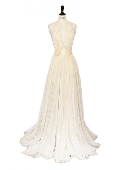 White Lace Flats Wedding