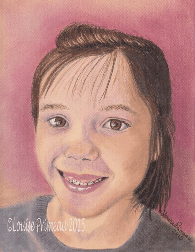 Mya -coloured pencil portrait