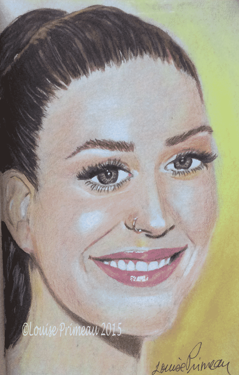 pencil portrait of Katy