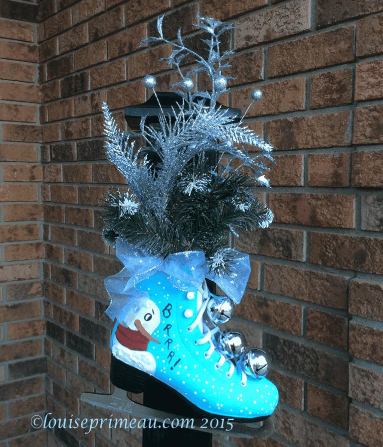Christmas painted skate