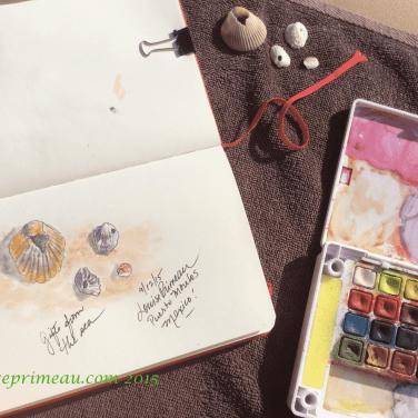 beach Sketches, Royalton Cancun, 2015.