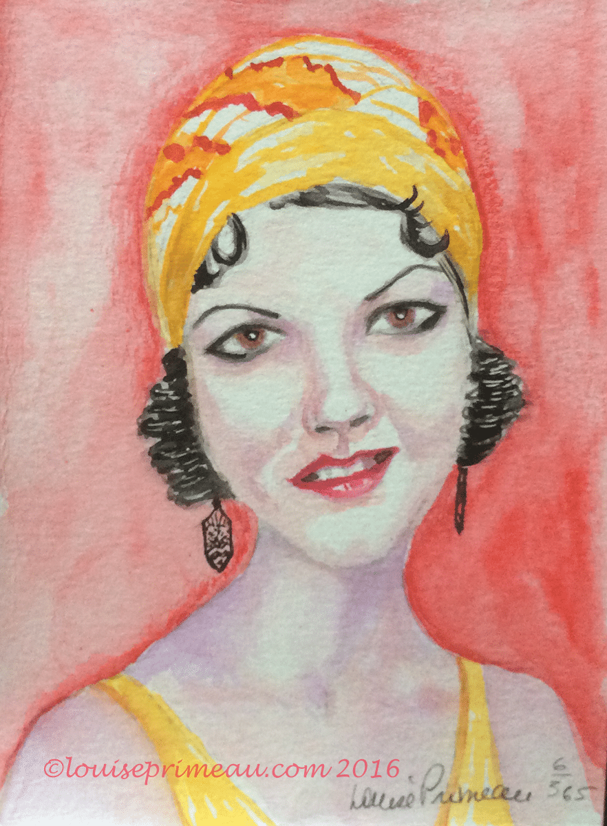 flapper watecolour