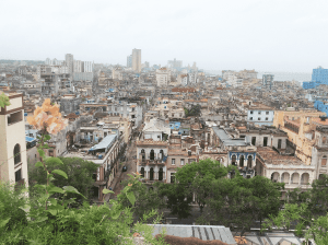 old Havana from viewpoint of Parque Central Hotel rooftop