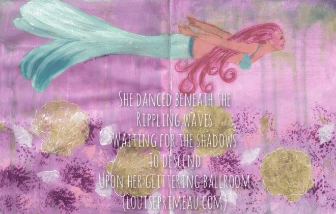 mermaid in watery ballroom