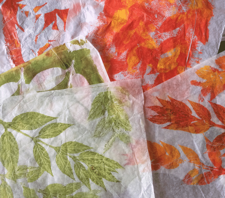 Gelli Leaves Fall Colours
