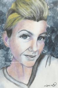 digitally reworked portrait