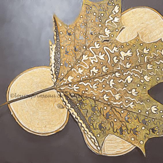 painted leaf transformed in app