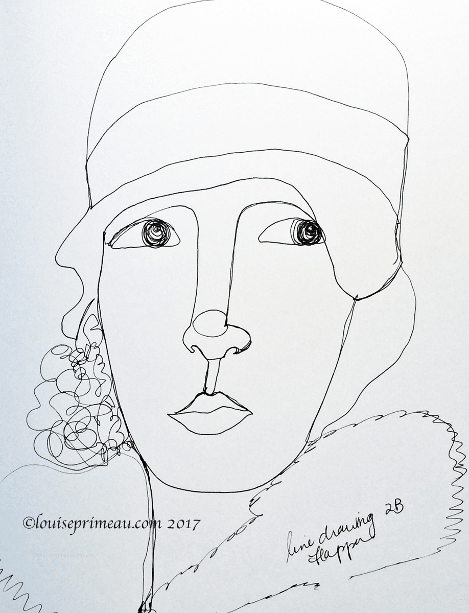 line drawing second attempt at flapper