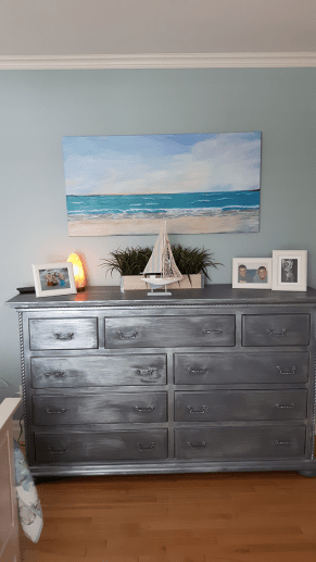 painted seascape in owner's home