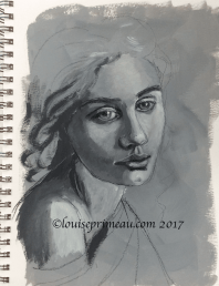 charcoal underpainting