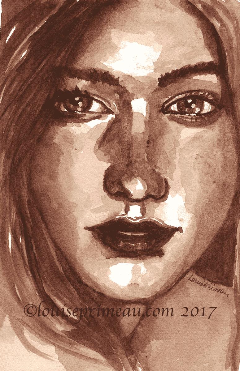watercolour tonal study