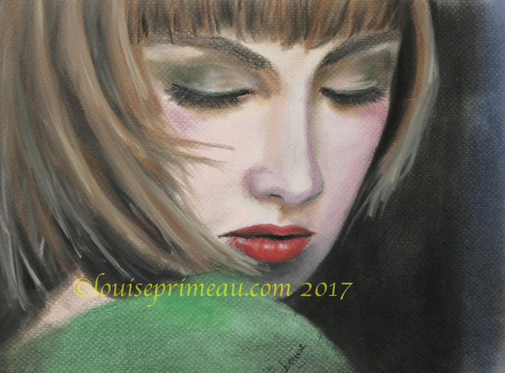 Heartbroken - pastel painting on Mi-teintes pastel paper