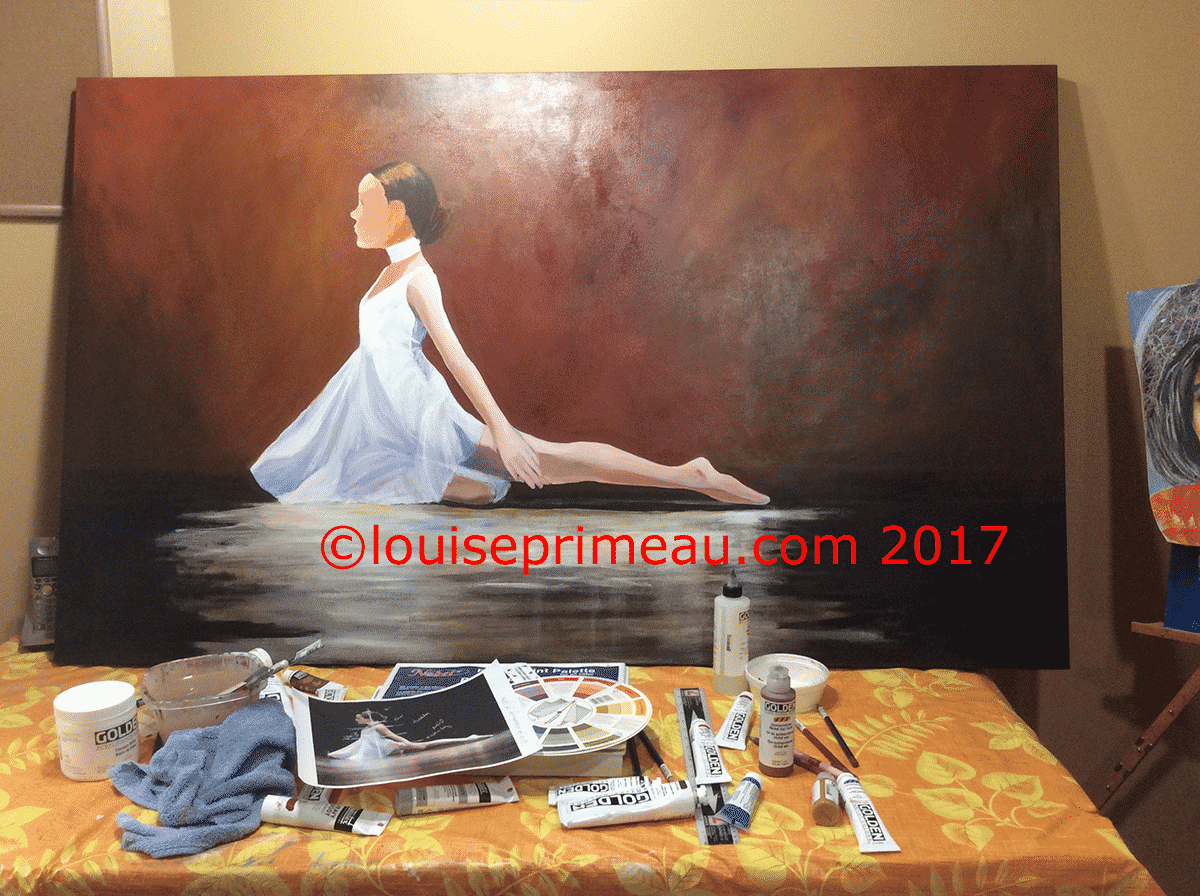 ballerina on canvas
