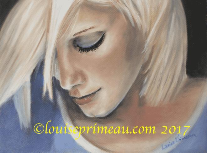 Forever a wallflower pastel portrait