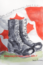 Illustration - Boots of the fallen soldiers