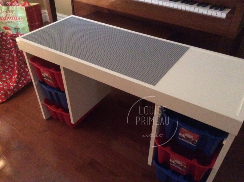 handmade Lego table