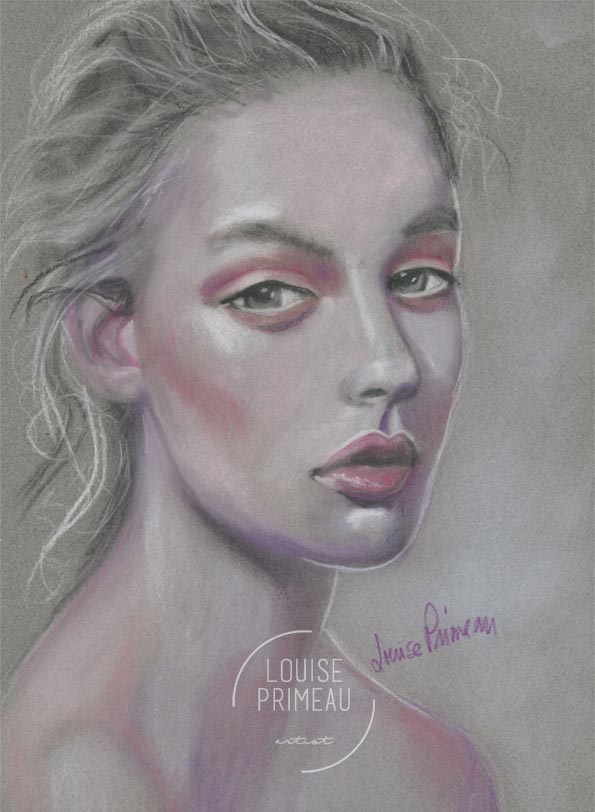 quick pastel portrait