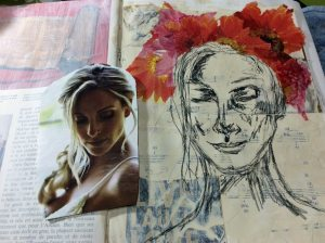 step2: sketching and collaging