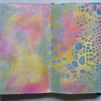 Create six easy art journal backgrounds