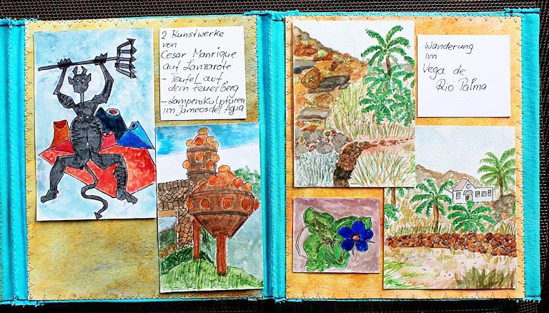 travel sketches of Fuerte