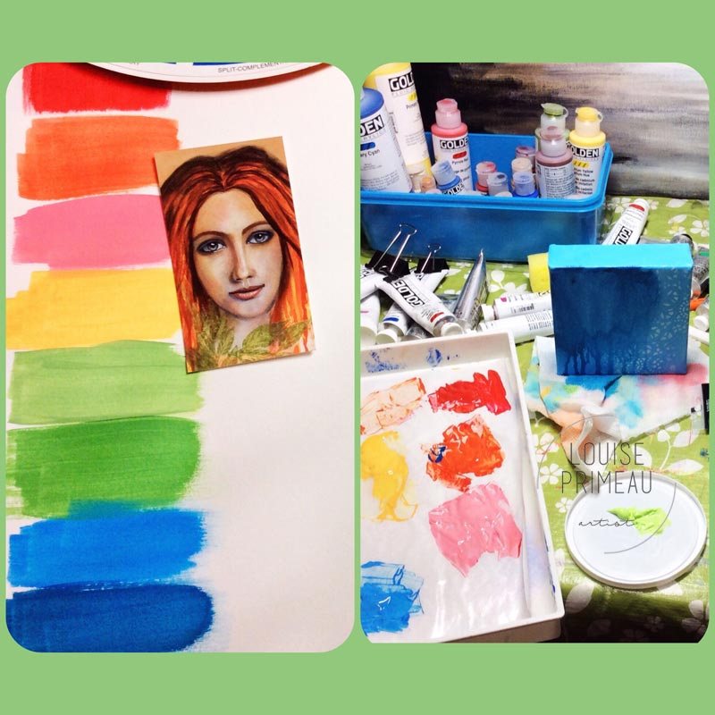 Mixing colours for art work