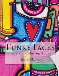 Jenny Manno's Funky Faces, December 2018.