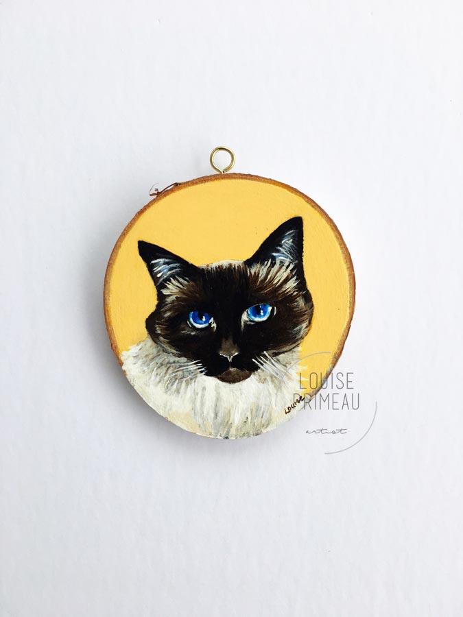 Bebop, by Ottawa pet portrait artist, Louise Primeau