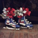 skates painted by participant in Louise's ARTiculations workshop