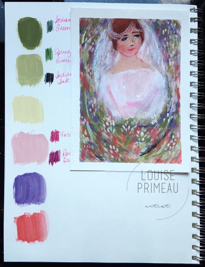 Palette sketchbook entry