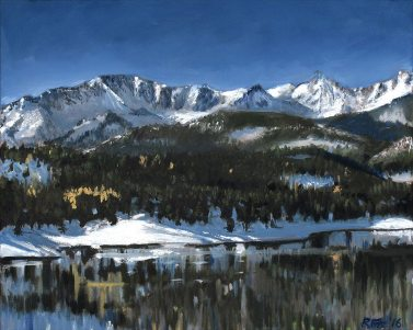 Pikes Peak by Rob Fitzsimmons, guest artist at Louise's ARTiculations