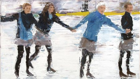 Skaters in Motion by Rob Fitzsimmons, guest artist at Louise's ARTiculations
