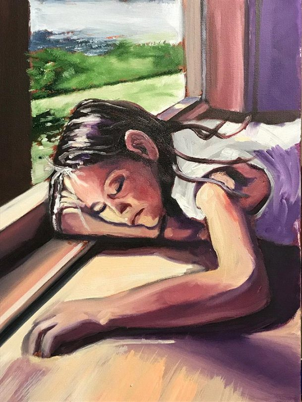 Summer slumber by Rob Fitzsimmons, guest artist at Louise's ARTiculations