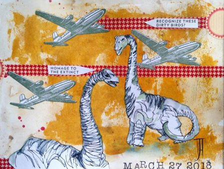 Jennifer Armstrong, guest artist at Louise's ARTiculations