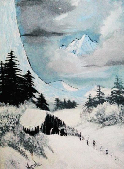 Guest artist Nicole Bureau at Louise's ARTiculations