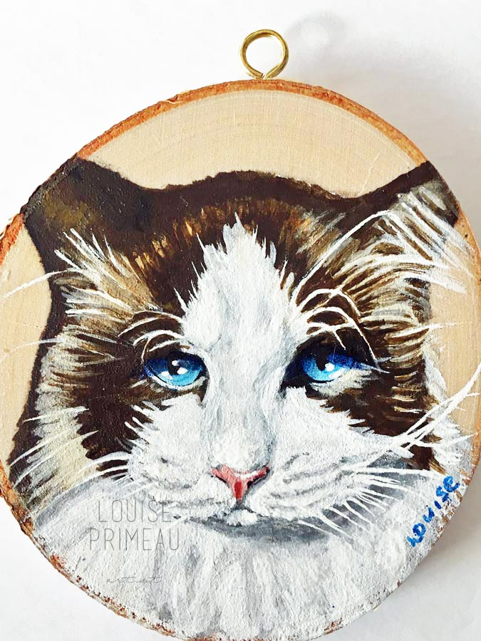 Patches painted by pet portrait artist, Louise's ARTiculations