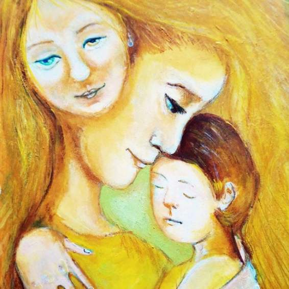 Angel's Loving Hug by Eleonora Medwell, guest artist at Louise's ARTiculations