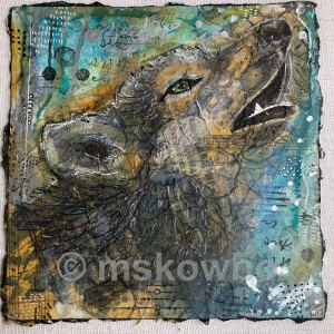 Coyote by Monica Skowbo at Louise's ARTiculations
