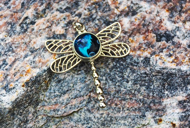 Dragonfly Snap Pendant by Kris Kennedy