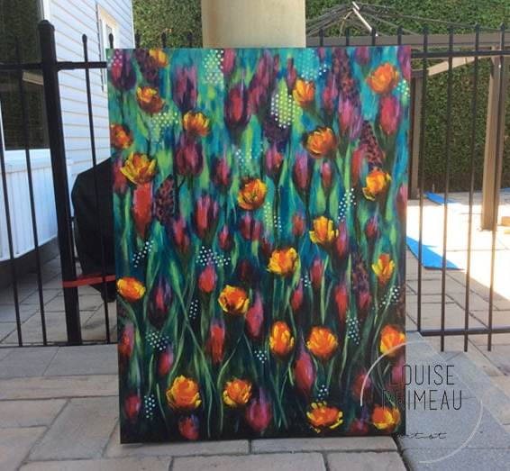 Under painting for expressive florals