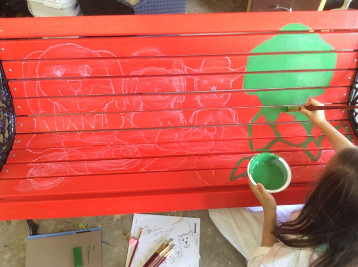 Bench with base coat