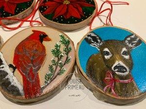 Wood slice ornaments giveaway