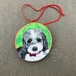Starbuck custom pet portrait ornament