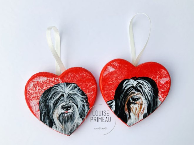 pet portraits on hearts