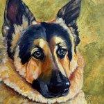 Hunter, German Shepherd memorial portrait by Louise Primeau