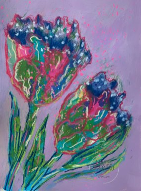 Floral study 6 by Louise's ARTiculations