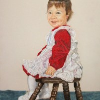 Toddler Self-portrait by Christie Markins, guest artist at Louise's ARTiculations