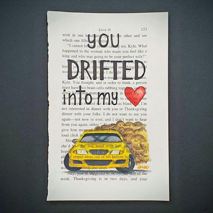 Drift car - Valentine's Day art