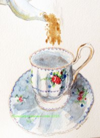 Petit-point-teacup
