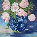 Ginger Jar and Roses by Donna Donovan, guest artist at Louise's ARTiculations