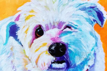 Mildred, painted by Ottawa pet portrait artist, Louise Primeau